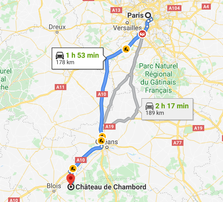Transfer from Paris to Chambord